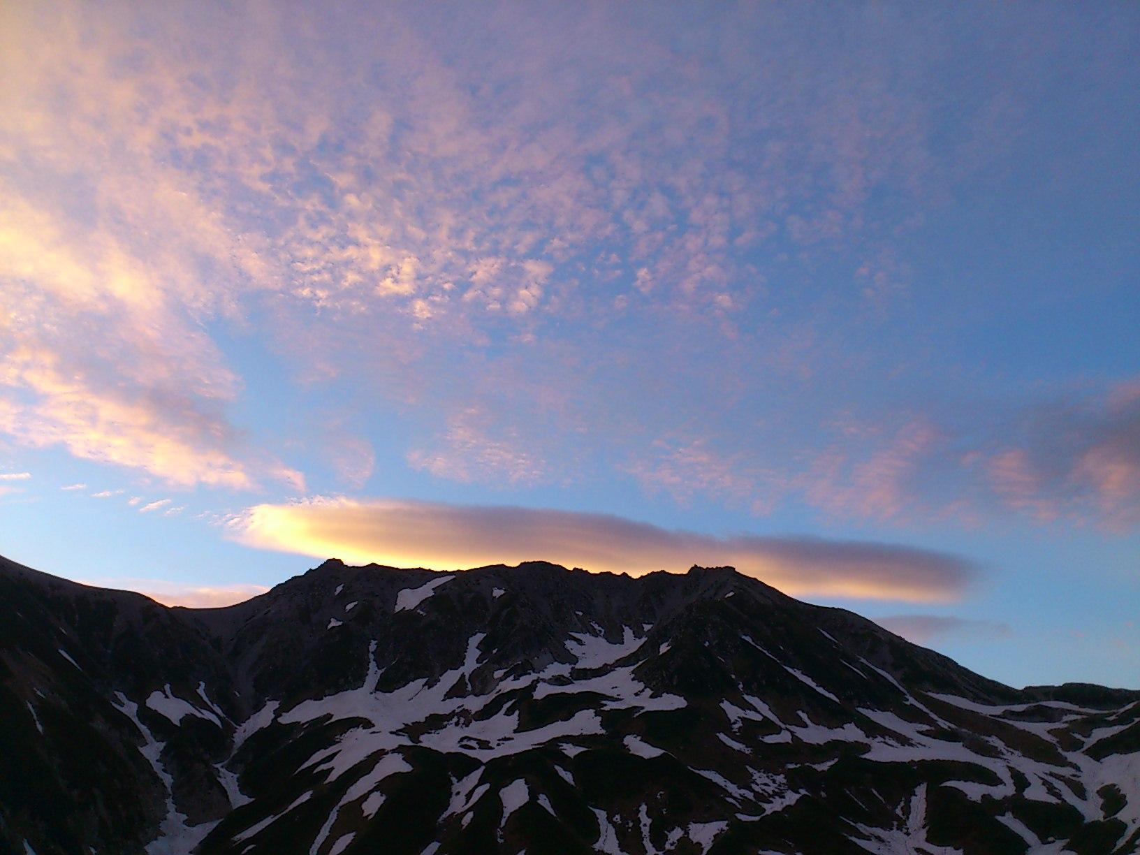 今朝の立山
